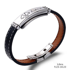 Casual Men Zodiac Signs Bracelet
