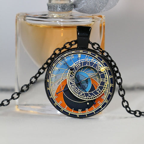 Astrology Clock Necklace