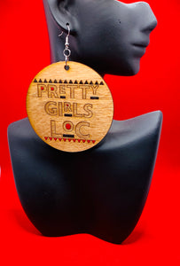 Pretty Girls Loc Earrings- Red & Black