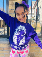 Lil Mama Purple w White Lettering Shirt