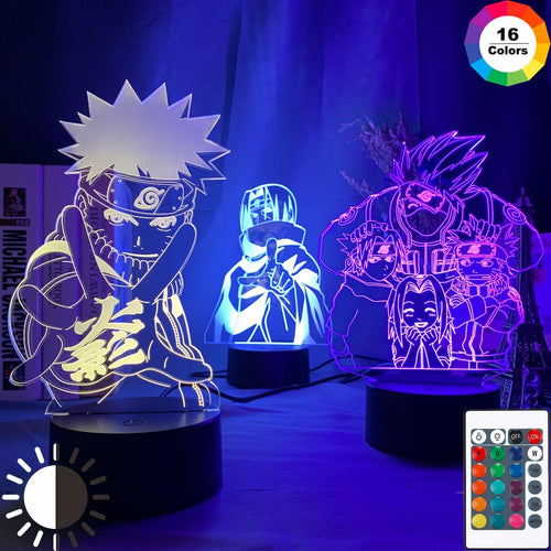 FREE Naruto Shippuden Anime Color Changing Lamp
