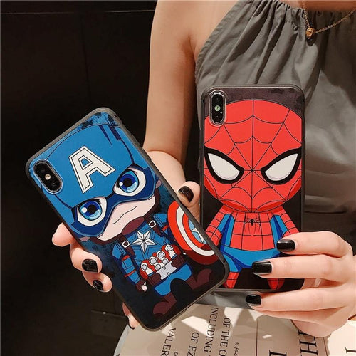 FREE Chibi Superheroes iPhone Case