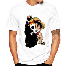 Load image into Gallery viewer, FREE One Piece Kawaii Luffy T-Shirt