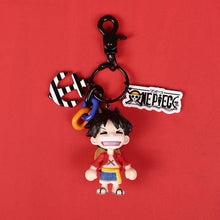 Load image into Gallery viewer, One Piece Luffy Action Figure Keychain