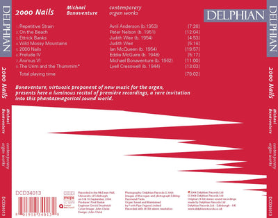 2000 Nails: Contemporary Organ Works CD Delphian Records