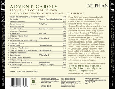 Advent Carols from King's College London CD Delphian Records