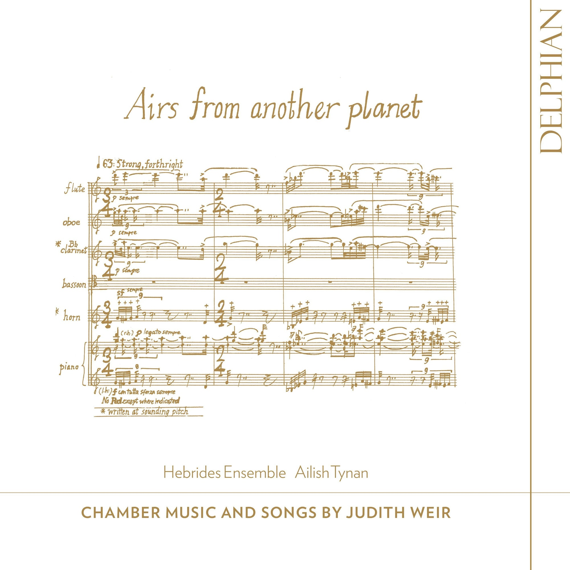 Airs from Another Planet: Chamber Music & Songs by Judith Weir CD Delphian Records