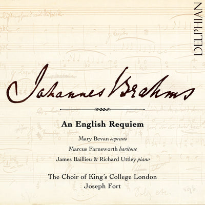 Brahms: An English Requiem CD Delphian Records
