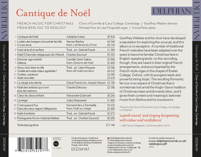 Cantique de Noel: French Music for Christmas CD Delphian Records