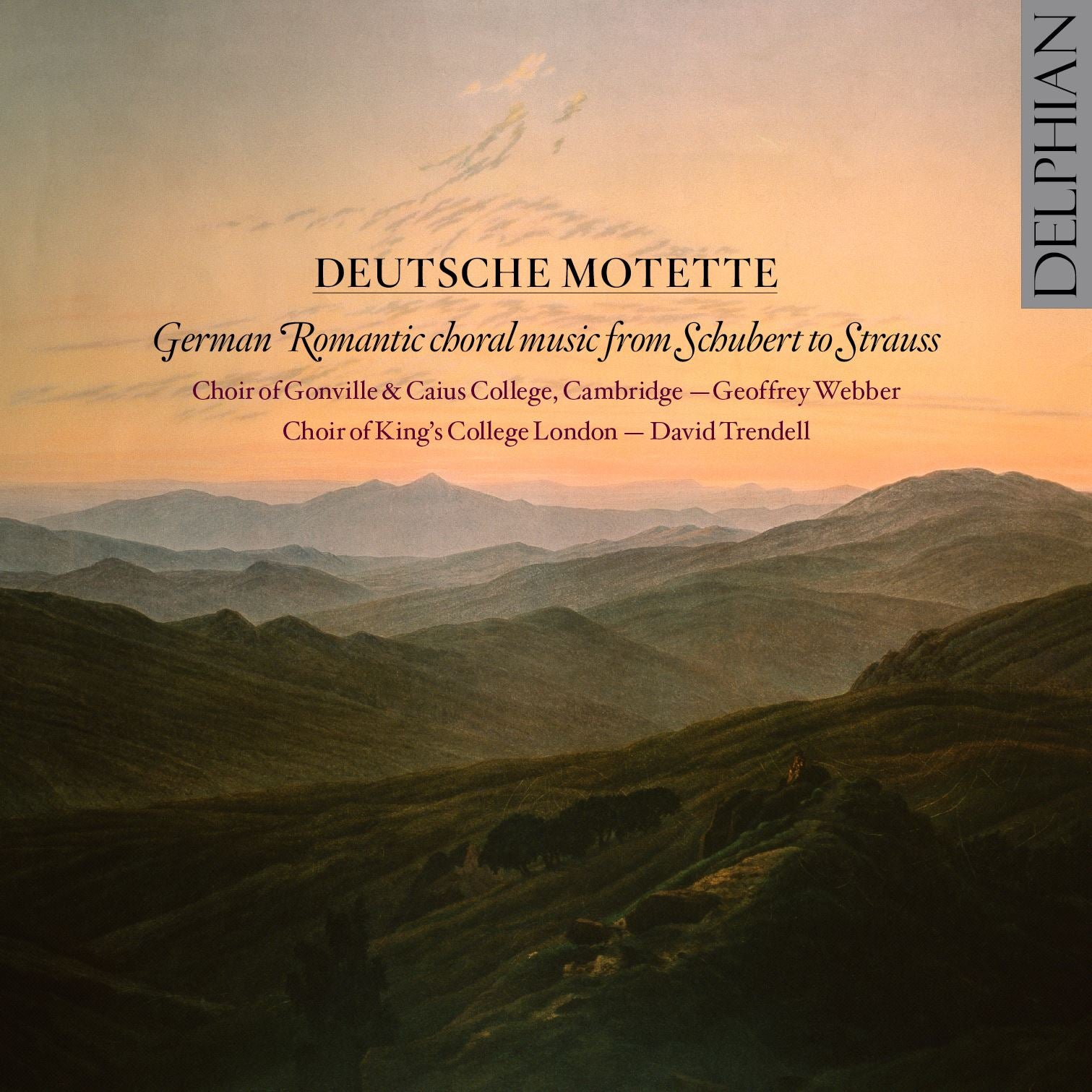 Deutsche Motette CD Delphian Records