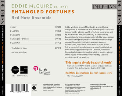 Eddie McGuire: Entangled Fortunes CD Delphian Records