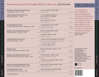 Instruments from the Rodger Mirrey Collection CD Delphian Records