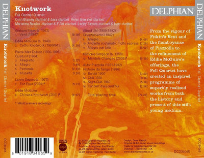 Knotwork: music for clarinet quartet CD Delphian Records
