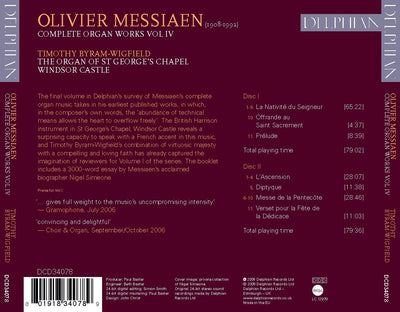 Messiaen: Organ Works Vol IV CD Delphian Records