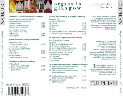 Organs in Glasgow CD Delphian Records