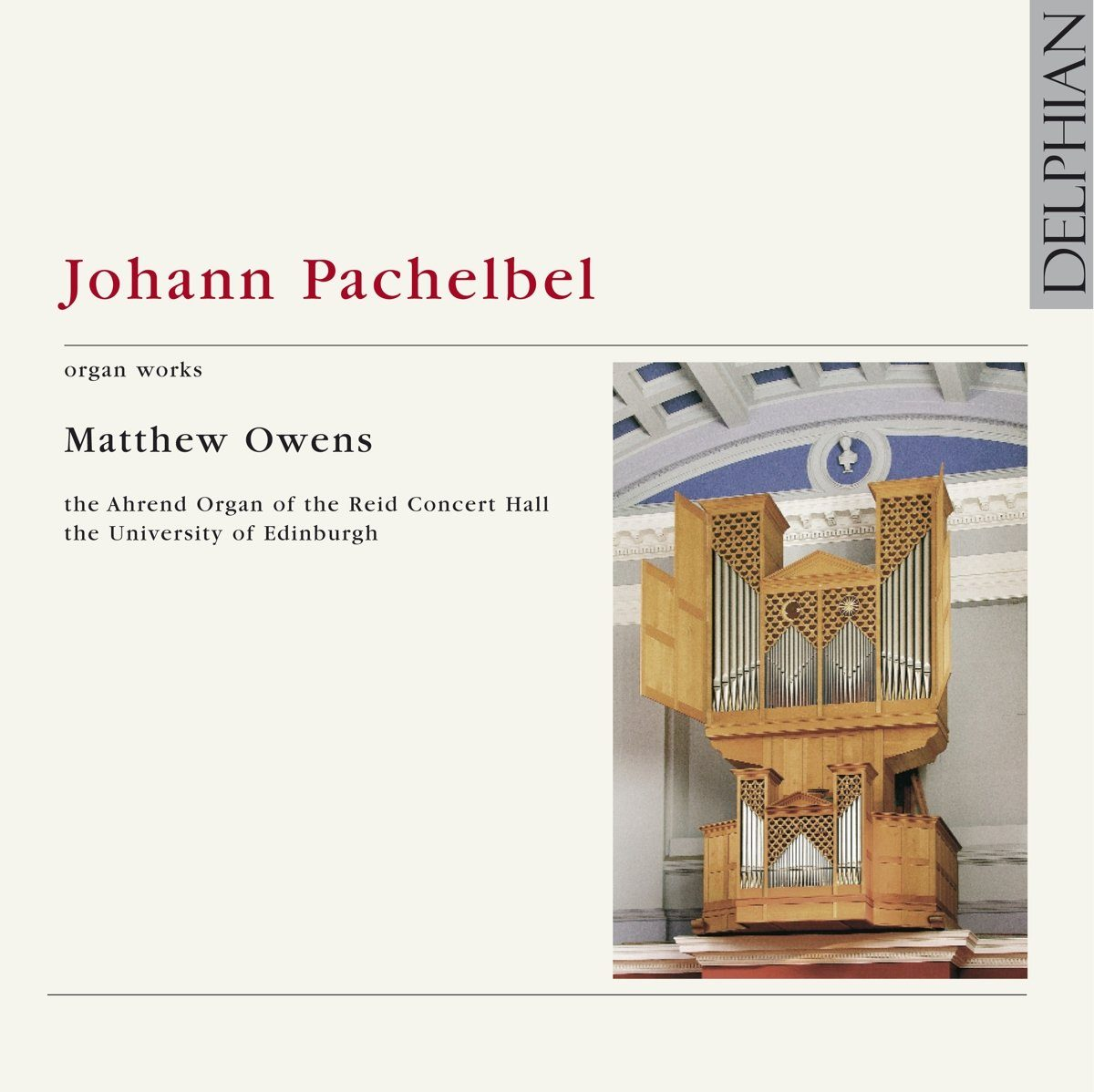 Pachelbel: Organ Works CD Delphian Records