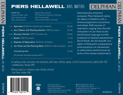 Piers Hellawell: Airs, Waters CD Delphian Records