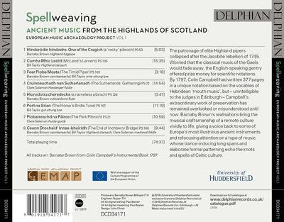 Spellweaving: ancient music from the Highlands of Scotland CD Delphian Records