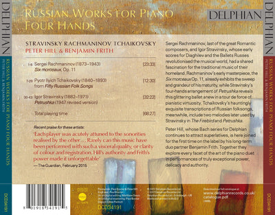 Stravinsky / Rachmaninov / Tchaikovsky: Russian works for piano four hands CD Delphian Records