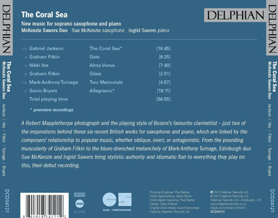 The Coral Sea: new music for soprano saxophone and piano CD Delphian Records