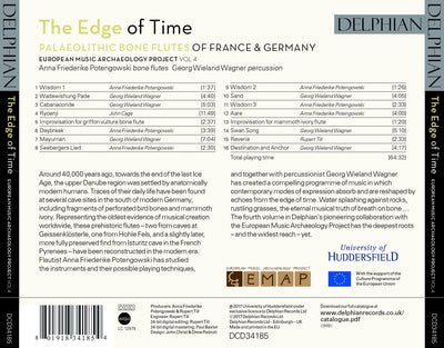 The Edge of Time: Palaeolithic bone flutes from France & Germany (EMAP Vol 4) CD Delphian Records