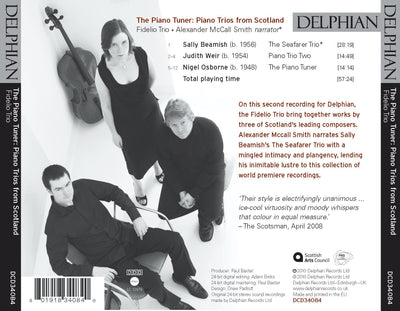 The Piano Tuner: piano trios from Scotland CD Delphian Records