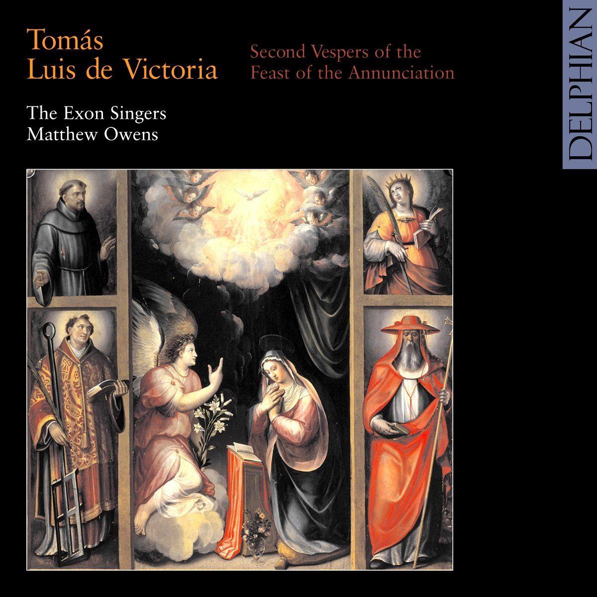Victoria: Second Vespers of the Feast of the Annunciation CD Delphian Records