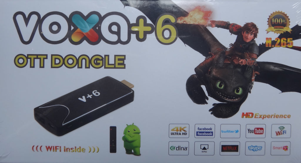 The Latest Model  Voxa+6 OTT Dongle with 12 Months free code - iSTARUS