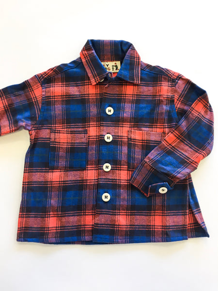 Flannel Workshirt - Poppy