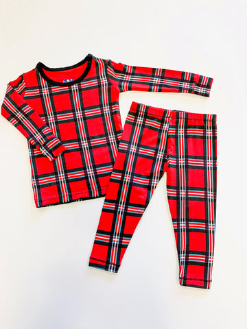 Long Sleeve PJ Set - Christmas Plaid 2019