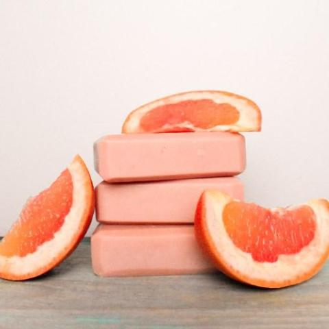Pink Grapefruit Soap with Rose Clay
