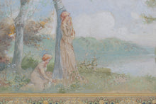 Load image into Gallery viewer, Nabis-style Watercolour Study for Wall Frieze_Detail