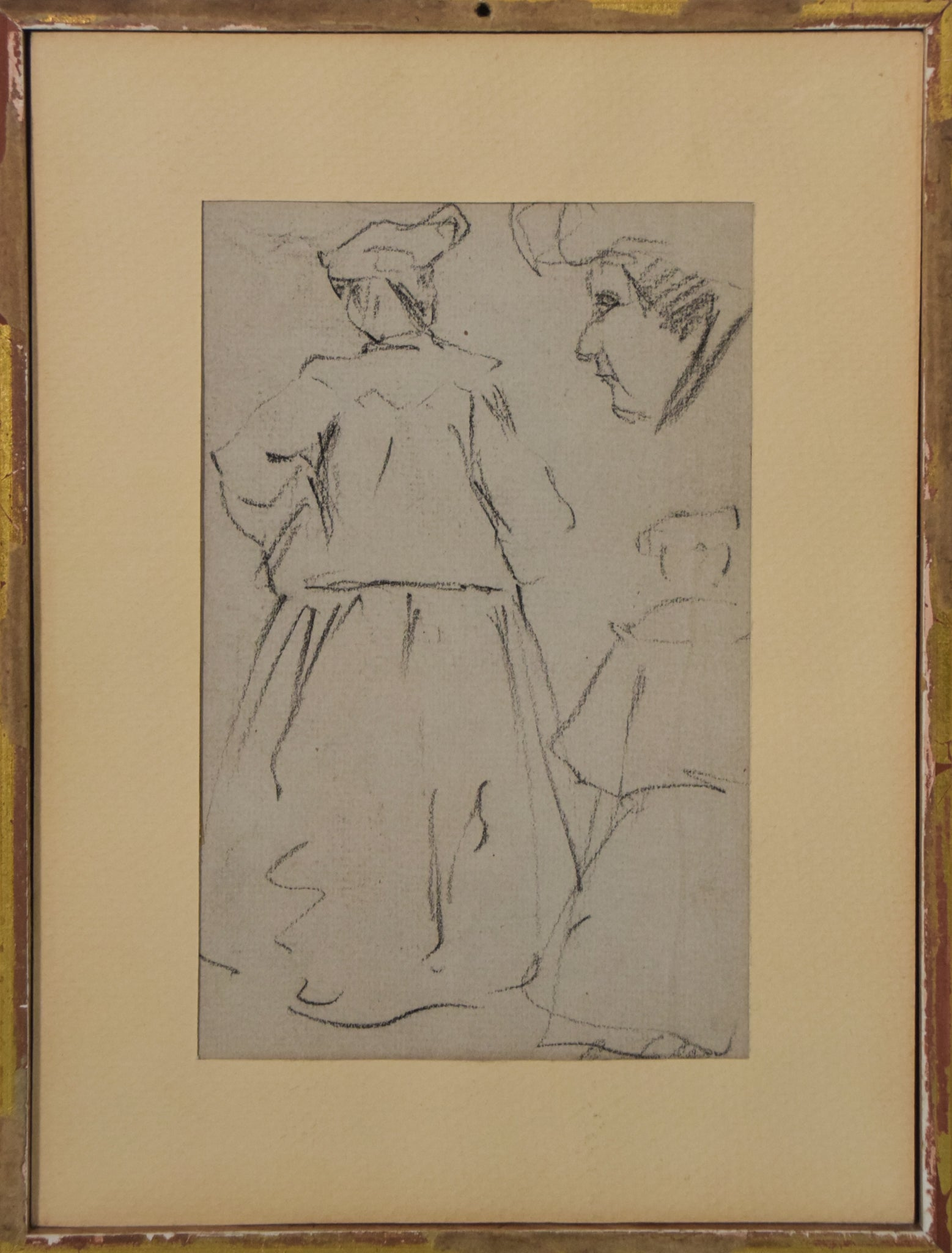 Double-sided sketches of Fin de siècle Ladies_Framed 2