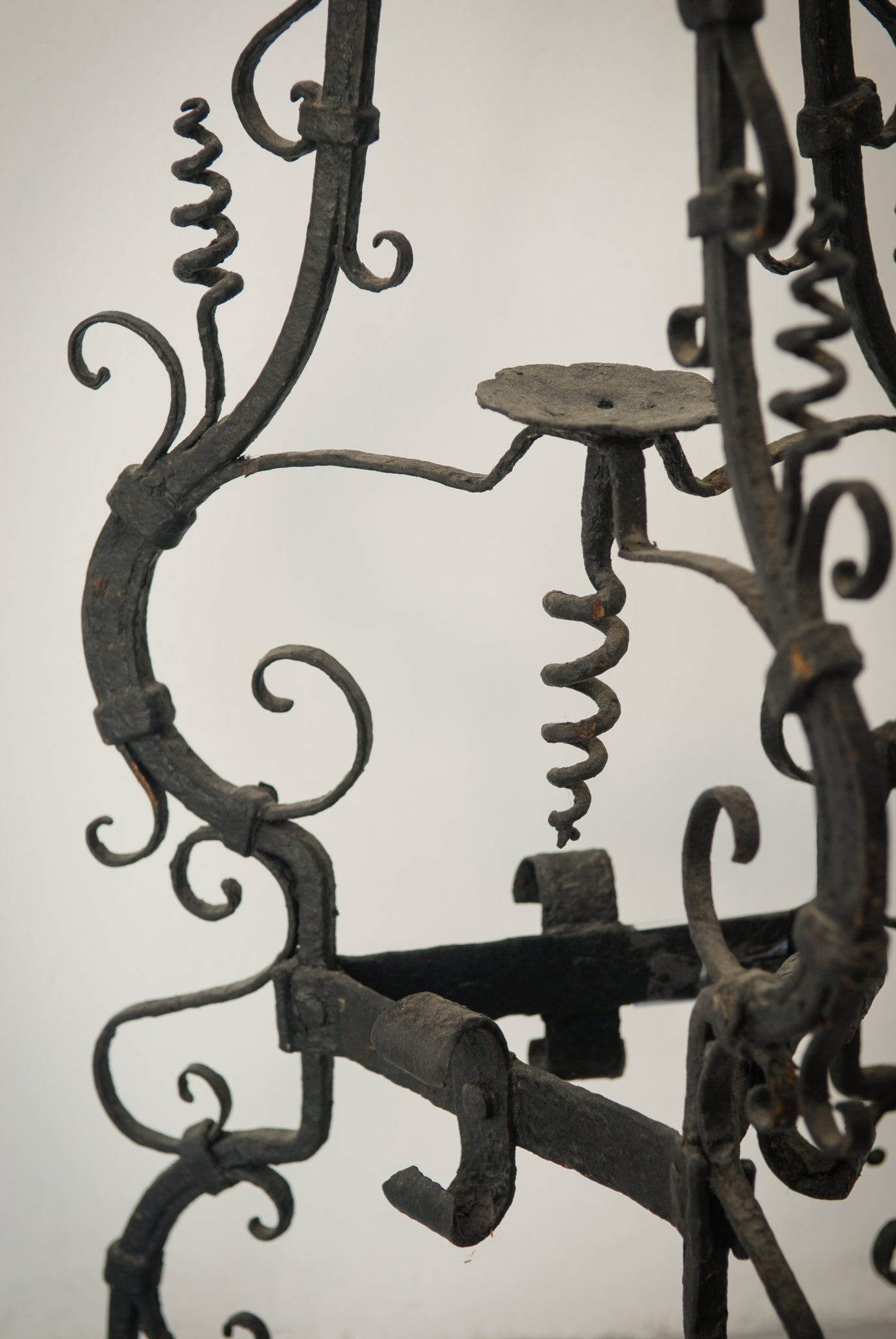 Pair of Wrought Iron Antique Washbowl Stands_Detail 3