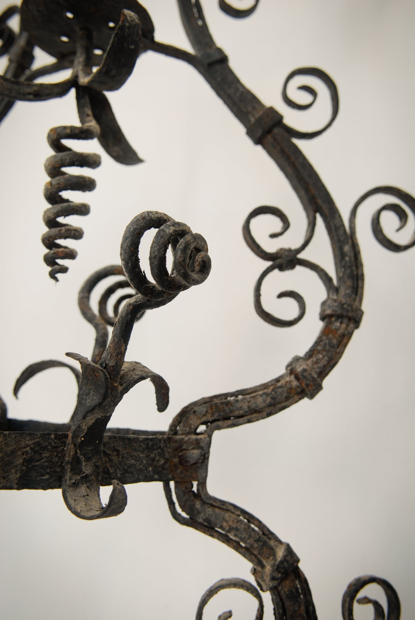 Pair of Wrought Iron Antique Washbowl Stands_Detail 5