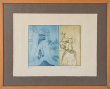 Load image into Gallery viewer, Etching with Nude Figures and Abstract Design_Framed