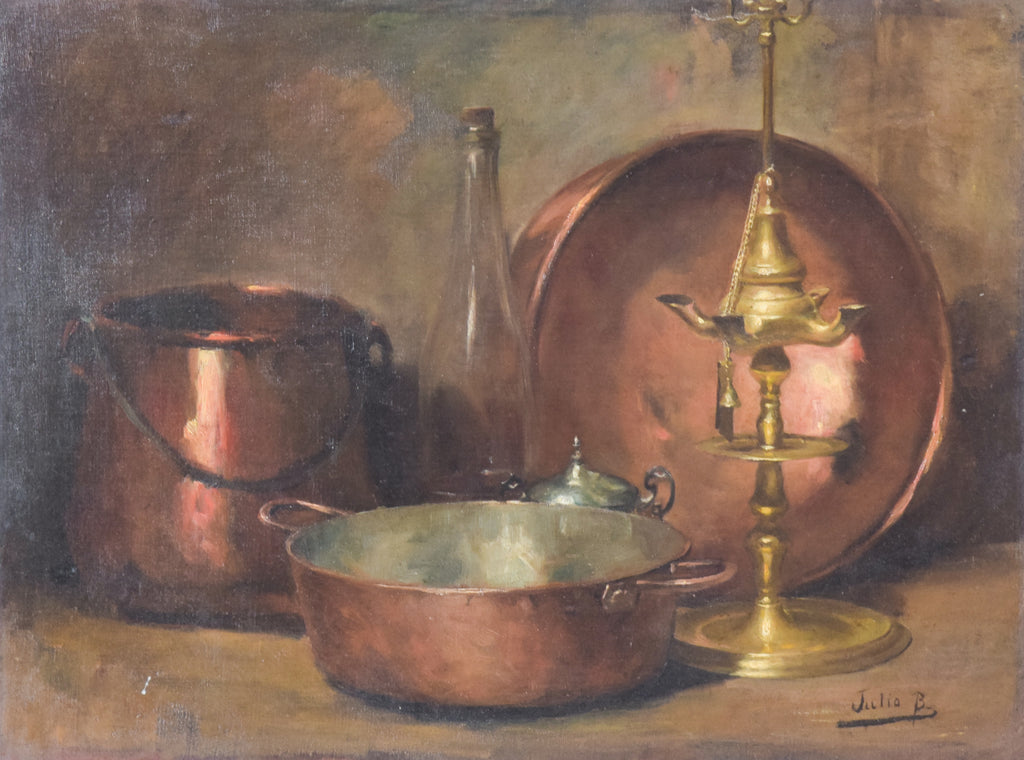 Still life with Oil Lamp by Julio Borrell