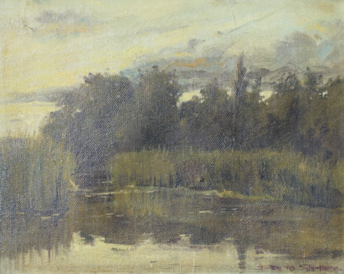 View of a Lake at Dusk