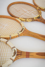 Load image into Gallery viewer, Five Mid-Century Dunlop Tennis Rackets with Four Cases
