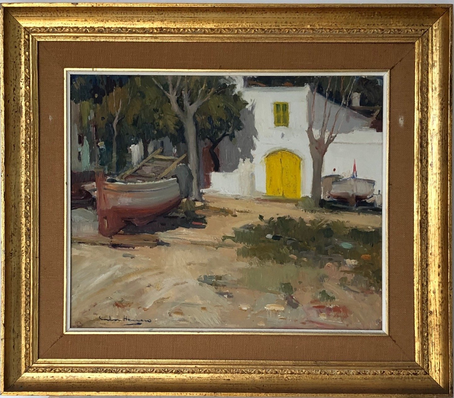 The Yellow Door by A. Sala Herrero_Framed