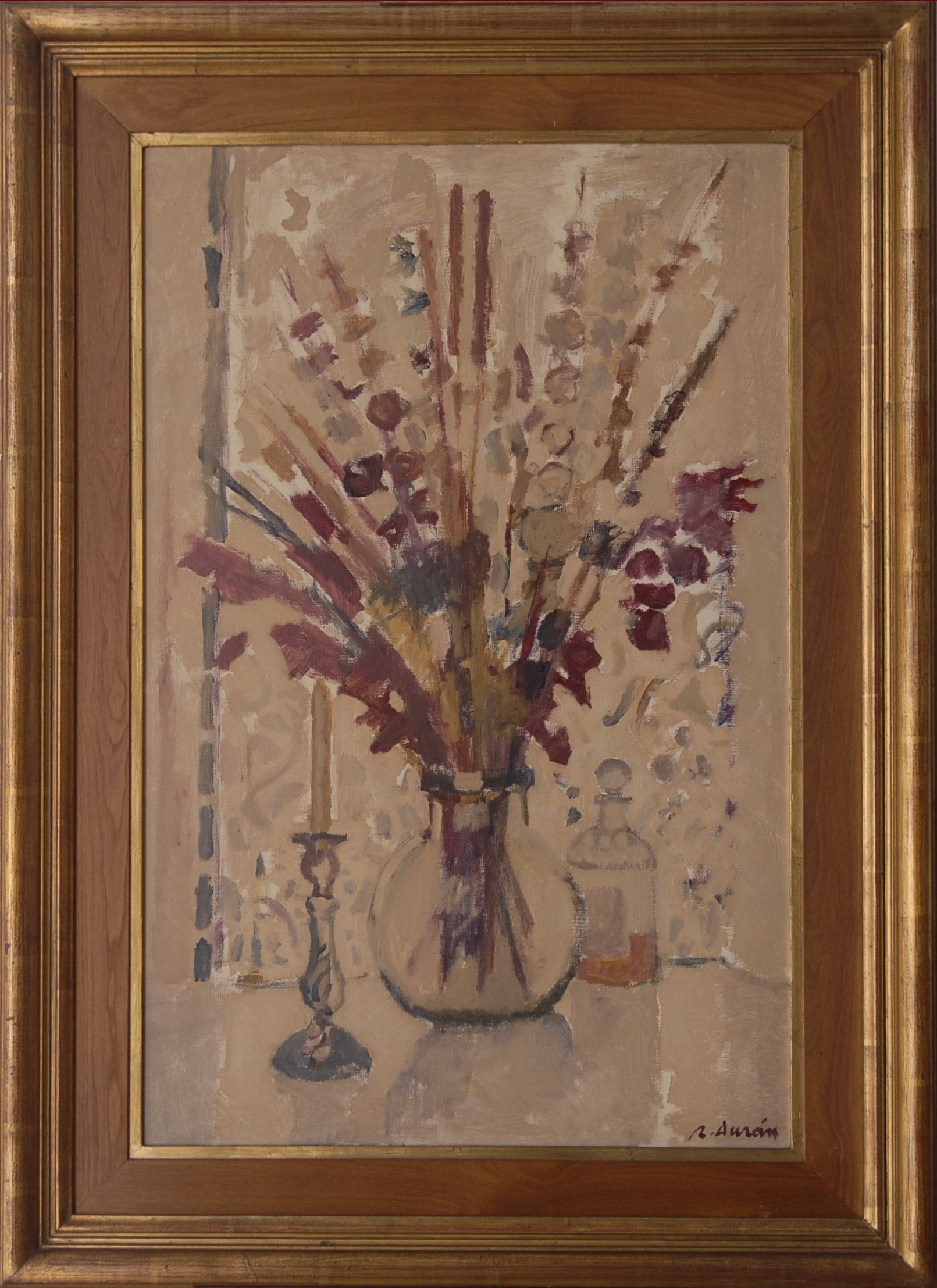 Flowers In A Vase by Rafael Duran_Framed