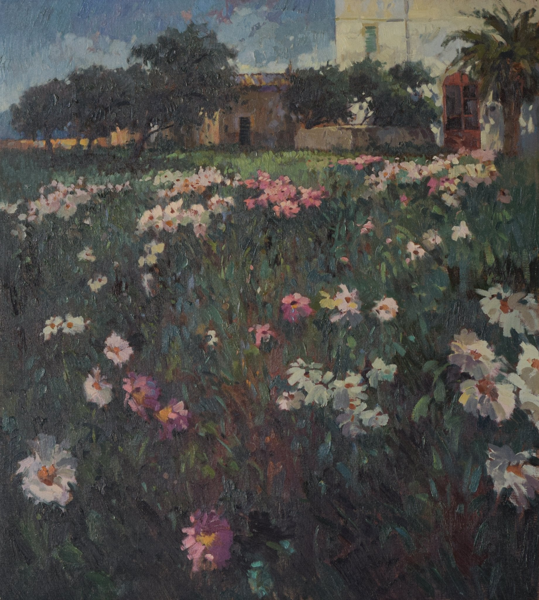 Large Landscape scene with Floral meadow
