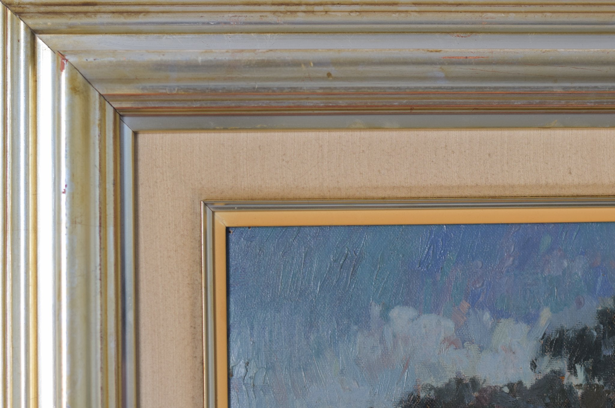 Large Landscape scene with Floral meadow_Frame detail