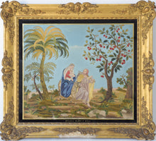 Load image into Gallery viewer, Large Frame with Embroidery and Painting