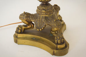 19th-century Bronze Lamp Stand_Griffin