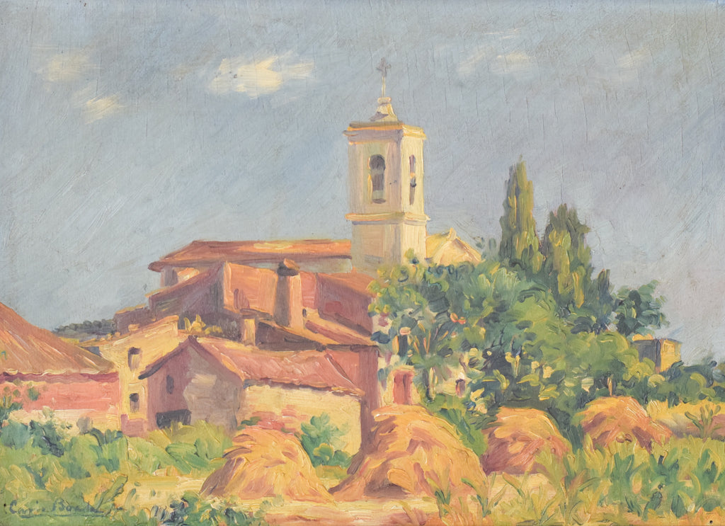 'Sant Andreu de Salou' - Landscape with Village in Golden Light