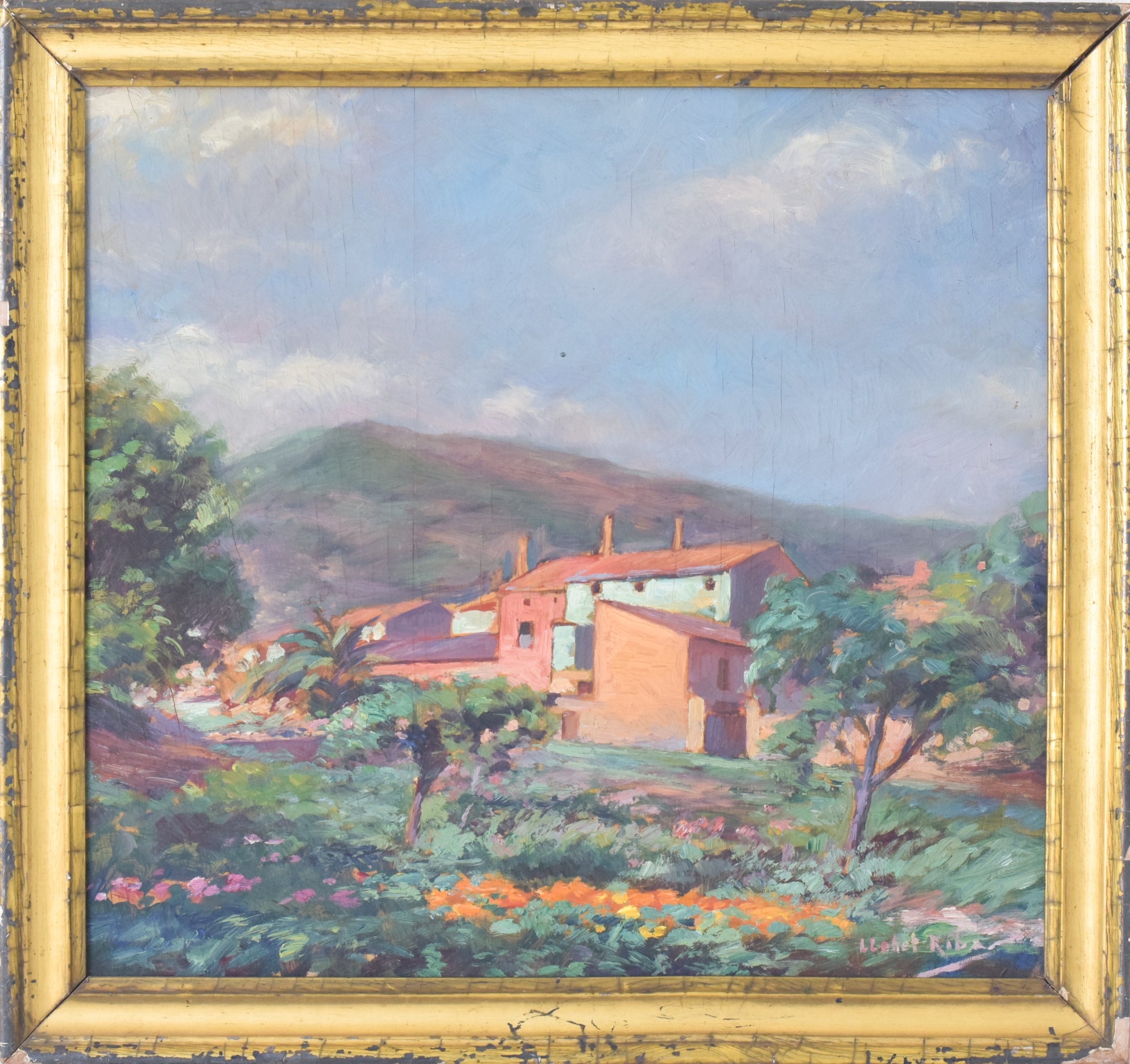 Rural Landscape in the manner of Armand Guillaumin_Frame