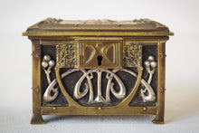 Load image into Gallery viewer, Early Art Nouveau Handmade Box in Brass and Silver