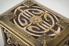 Load image into Gallery viewer, Early Art Nouveau Handmade Box in Brass and Silver_Top