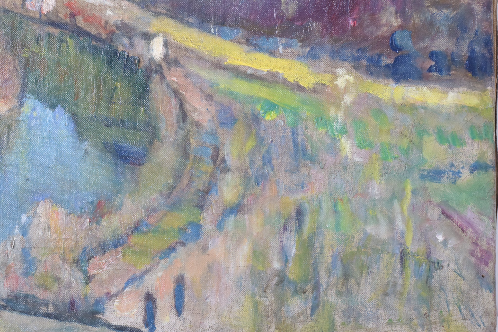 Impressionist Landscape with Hills and River_Detail